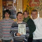 Jugendmannschaft (v.l. Ilja Gitin, Stephan Hennies, Carolin Hennies und Malte Kanus)