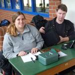 Julia Diener und Oliver Najuch kümmern sich um das Organisatorische