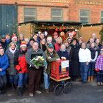 Gruppenfoto vom SV Oesselse - Weihnachtsmarkt 2015 Truppe