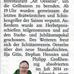 Bericht vom Abgrillen in den Leine-Nachrichten vom 23. September