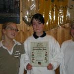 Schülermannschaft (v.l. Annika Holzapfel, Mareike Hackbarth, Anna Holzapfel)