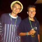 Besuch aus Frankreich: v.l. Pierre und Julien