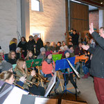 Auftritt der Bläserklasse Nr.6 aus der Albert-Einstein-Schule in Laatzen