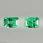Smaragd • 0,78 ct • smaragd • 5,5/3,5 mm • Paar • Preis € 900