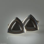 Manschettenknöpfe in Silber mit Ebenholz • Preis € 390