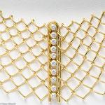 Transparentes Collier aus Golddraht und Brillanten • Preis auf Anfrage