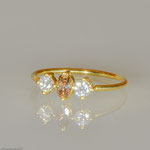 Der Prinzessinnenring • Diamant cognacfarben und Brillanten • Verkauft
