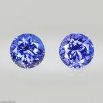Tansanit • 3,57 ct • rund • 7 mm • Paar • Preis € 3200