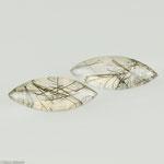 Turmalinquarz • 10,88 ct • navette Cabochon • 20/8 mm • Paar • Preis € 120