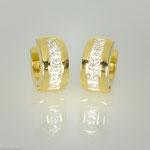 Creolen mit Diamanten im Princessschliff • Anfertigung im Kundenauftrag