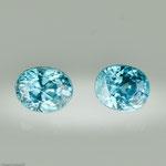 Zirkon • 3,23 ct • oval • 6,5/5,2 mm • Paar • Preis € 220