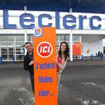 C'est le magasin relooké de ROSTRENEN qui nous offre le premier hypermarché E. Leclerc doté de ses nouvelles couleurs et de son logo modernisé. Initialement localisé à Rostrenen en tant que E. Leclerc express, désormais le magasin a fait peau neuve et se
