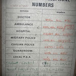 Military Emergency Telephone list Werl - Albuhera & Vittoria Barracks - B.A.O.R Werl