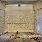 Inside one of the two the Squash courts -  Albuhera Barracks - B.A.O.R Werl