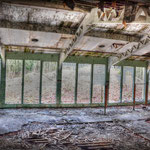 The vandalised glass windows - Inside the vandalised Gym - Albuhera Barracks - B.A.O.R Werl