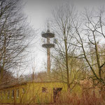 In the closed off area Telcommunications Tower - Vittoria Barracks - B.A.O.R Werl Werl, Now used as a Mobile Phone Mast
