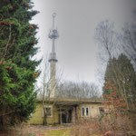 The former (Radio Canadian Army Europe) CAE & BBC - BFBS Radio Station mast - Albuhera Barracks - B.A.O.R Werl. Now used by The German Hellweg Radio