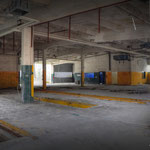 Inside view of the MT,Garage, situated behind the POL Point - Vittoria Barracks  B.A.O.R Werl