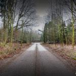 Way to the Gate & Gaurdroom - Albuhera Barracks - B.A.O.R Werl