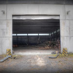 Main door at the backend view inside the Wksp Hanger - Vittoria Barracks  B.A.O.R Werl