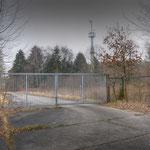 The gate to LEC Wksp Hanger - Vittoria Barracks  B.A.O.R Werl