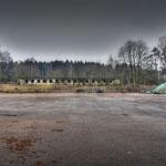 logs stored on the Parade square - Albuhera Barracks - B.A.O.R Werl