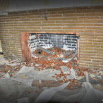 The Fire place in either the Sgt's / Officer' Mess - Building No 19 - Vittoria Barracks  B.A.O.R Werl