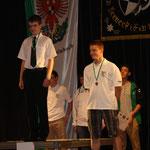 Siegerehrung Luftpistole Junioren männlich