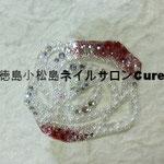 薔薇 ガラスストーン使用 4428円(税込) サイズ 5x4.2cm