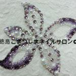 ユリ ガラスストーン使用 4536円(税込) サイズ9.4x7.9cm