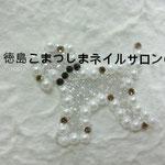 ドック ガラスストーン使用 3132円(税込) サイズ3.7x3.3cm