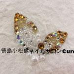 リーフ ガラスストーン使用 3240円(税込) サイズ3.6x3cm