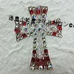 クロス ガラスストーン使用 3672円(税込) サイズ3.4x4.6cm