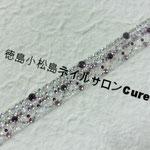 ブレス ガラスストーン使用 4850円(税込) サイズ14.5x1.7cm