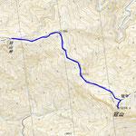 冠山登山地図