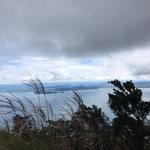 琵琶湖が見えて。
