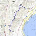比良南部トレイル地図