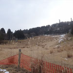 スキー場あと。