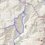 笠ヶ岳山行地図