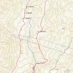庄部谷山のルート図とチェックしたポイント