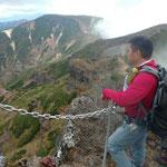 横岳から赤岳の稜線