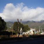 蓬莱駅から望む比良山系