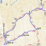 甲斐駒ヶ岳ルート図