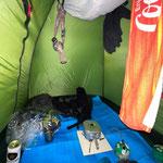 テントの中はこんな感じ
