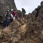 赤岳からの下山