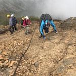 赤岳山頂への登り