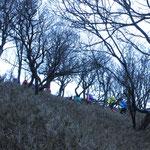 綿向山山頂への最後の登り