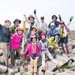蓼科山山頂(2530.7m)にて
