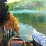 Mandello vista lago. Olio su tela sciolta21X29