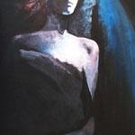 Annunciazione. . Acrilico su tela dim.50x100